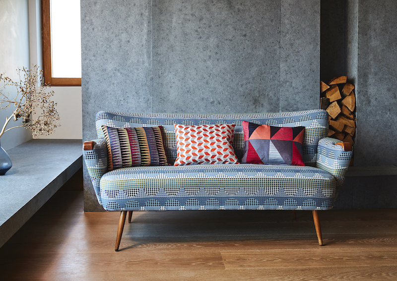 New Year projects, Cushions and fabrics by Margo Selby