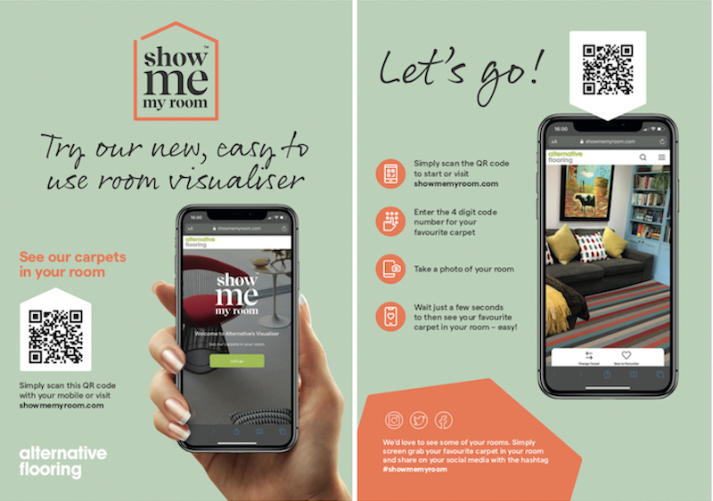 4 simple steps, a guide to using Show Me My Room, Alternative Flooring's new visualiser for floors