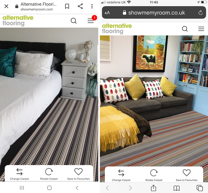 See the Show Me My Room visualiser being used in a bedroom and living room