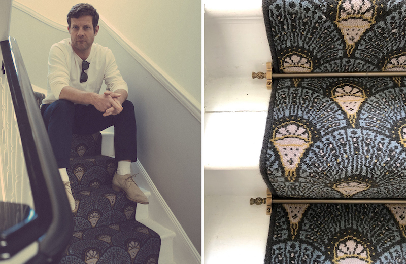 Dee Koppany O'Leary husband Dermot O'Leary on Quirky Deco stairs