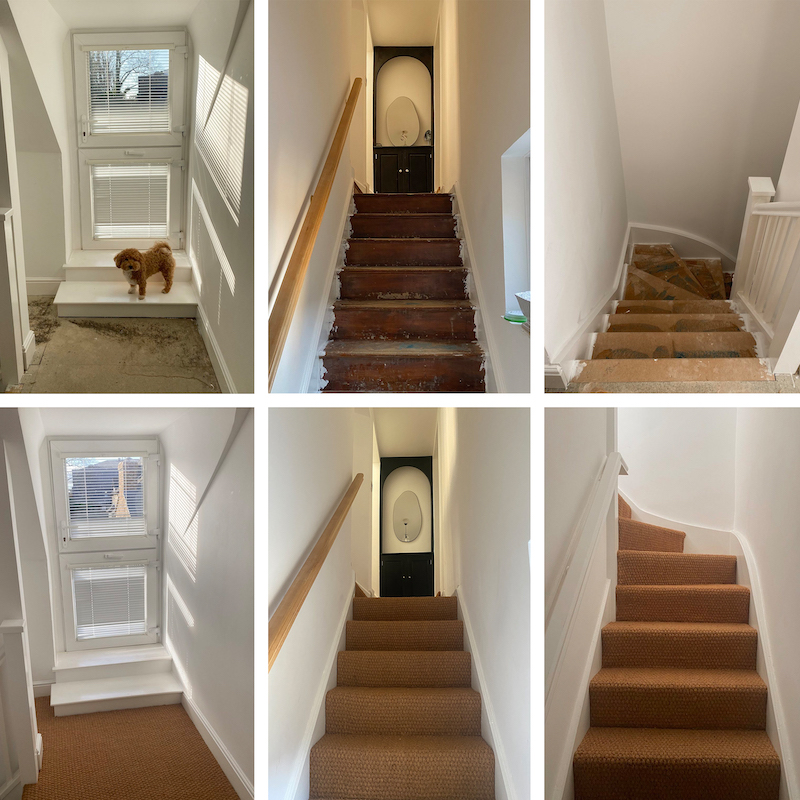 Natural beauty - Sinead's staircase was transformed with a new natural coir stair carpet